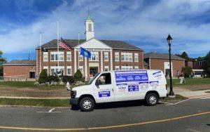 Campaign Van at Municipal Center